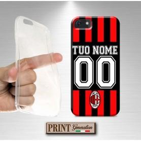 Cover Personalizzata - Calcio MILAN NOME E NUMERO - Samsung