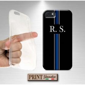 Cover Personalizzata - MONOGRAMMA INIZIALI NOME - RIGA BLU - Samsung