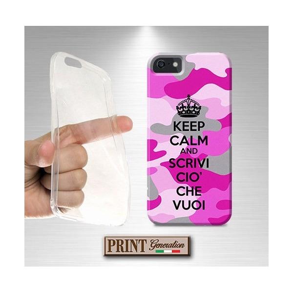 Cover Personalizzata - KEEP CALM MIMETICA ROSA - Huawei