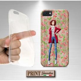 Cover stampata MODA LEGNO FIORI effetto Huawei