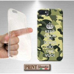 Cover Personalizzata - KEEP CALM CAMOUFLAGE - Wiko