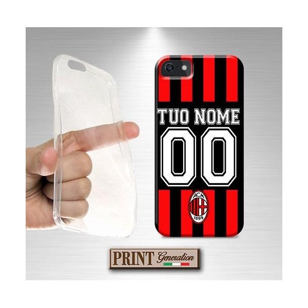Cover Personalizzata - Calcio MILAN NOME E NUMERO - Wiko