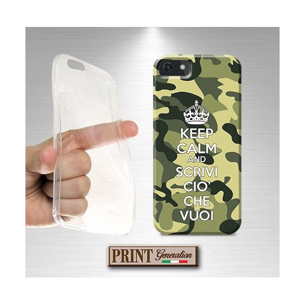 Cover Personalizzata - KEEP CALM CAMOUFLAGE - Nokia