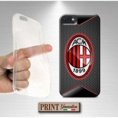 Cover - Calcio MILAN FIBRA CARBONIO 1 - iPhone
