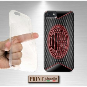 Cover - Calcio MILAN FIBRA CARBONIO 2 - iPhone