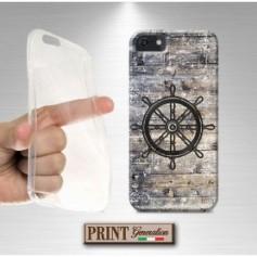 Cover stampata Nautica TIMONE VINTAGE LEGNO effetto iPhone