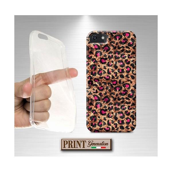 Cover stampata CHIC LEOPARDATA effetto glitter iPhone