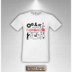 T-Shirt - FIDATI SONO UN INGEGNERE - Idea regalo - Laurea