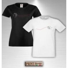 T-Shirt - FILO ROSSO DEL DESTINO - Idea regalo - San Valentino - Coppia