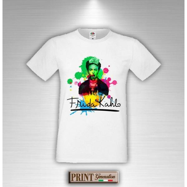 T-Shirt - FRIDA SPLASH - Art - Idea regalo