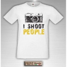 T-Shirt - I SHOOT PEOPLE - Idea regalo - Fotografo
