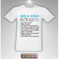 T-Shirt - LISTA COSE DA FARE PRIMA DEL SI - Addio al Celibato - Lista personalizzata