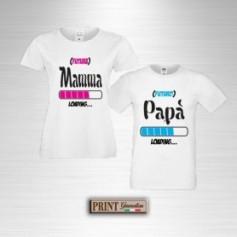 T-Shirt - LOADING MAMMA PAPA' - Idea regalo - Coppia