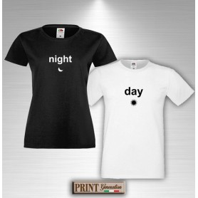 T-Shirt - NIGHT AND DAY - San Valentino - Idea regalo - Coppia