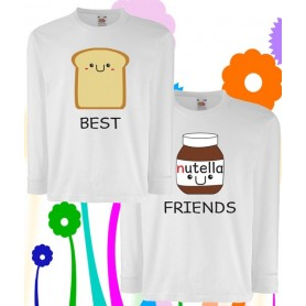 T-Shirt maniche lunghe - BEST FRIENDS BREAD AND NUTS CREAM - Idea regalo