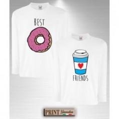 T-Shirt maniche lunghe - DONUT E COFFEE - Idea regalo