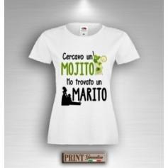 T-Shirt - CERCAVO UN MOJITO HO TROVATO UN MARITO - Addio al Nubilato