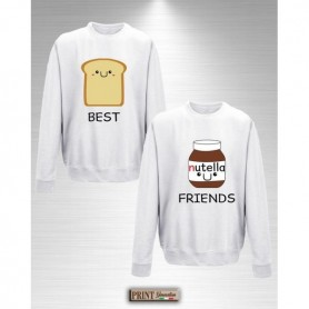 Felpa - BEST FRIENDS BREAD AND NUTS CREAM - Idea regalo