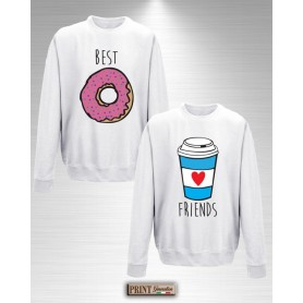 Felpa - BEST FRIENDS DONUT E COFFEE - Idea regalo