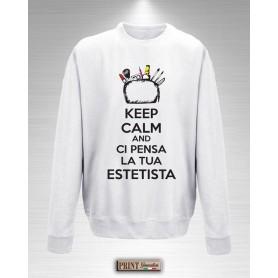 Felpa - ESTETISTA KEEP CALM - Idea regalo