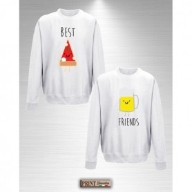 Felpa - BEST FRIENDS PIZZA AND BEER - Idea regalo