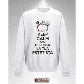 Felpa - ESTETISTA KEEP CALM - Idea regalo