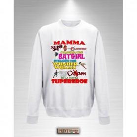 Felpa - MAMMA SUPEREROE - Idea regalo