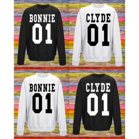 on sale c0fb3 e8dda Felpa personalizzata - Modello BONNIE & CLYDE - Idea regalo