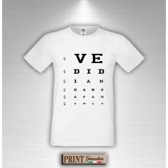 T-Shirt Oculista Frase Divertente Vedi di andare a fanculo Maglietta Uomo