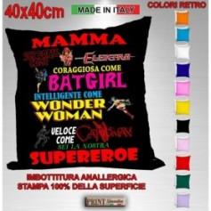 Cuscino - MAMMA SUPEREROE - Festa della Mamma Idea regalo