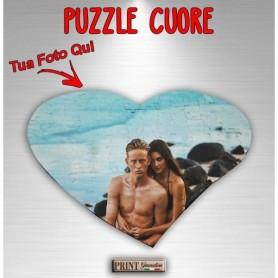 Puzzle Personalizzato - CUORE CON FOTO - Formato A3 - Idea regalo