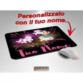 Tappetino Mouse Personalizzato - UNICORNO CON NOME - Idea regalo