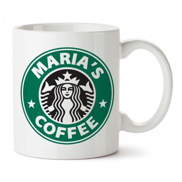 Tazza Personalizzata - LOGO STARBUCK COFFEE CON TUO NOME