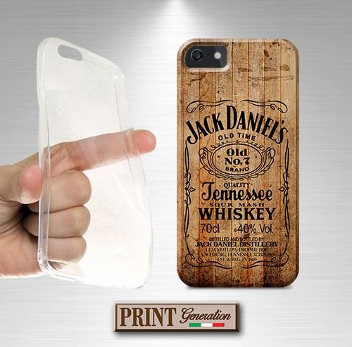 Cover stampata Jack Daniel's effetto legno Huawei