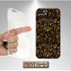 Cover stampata Carta Fiorentina oro nero effetto glitter Samsung