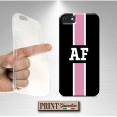 Cover Monogramma rosa nero personalizzata Samsung