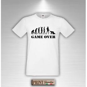 T-shirt Addio al Celibato Evoluzione GAME OVER