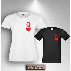 T-Shirt REGINA DI CUORI Maglietta Donna San Valentino Fidanzanti