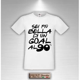 Goal Maglietta Di Shirt Un Bella T Al Piu' Novantesimo Sei Uomo wk0NPXn8O