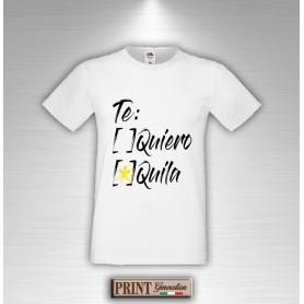 T-Shirt TE QUIERO O TEQUILA Maglietta Uomo Frasi Divertenti
