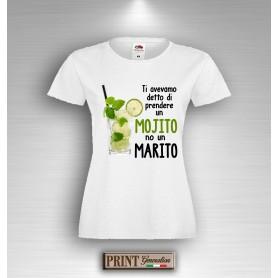 T-Shirt - PRENDERE UN MOJITO NON UN MARITO - Addio al Nubilato