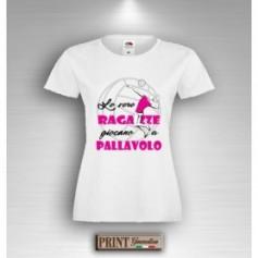 T-Shirt - LE VERE RAGAZZE GIOCANO A PALLAVOLO - Idea regalo Bambina - Sport