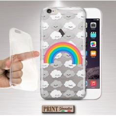 Cover - 'CLOUD PATTERN' trasparente nuvole arcobaleno carino WIKO