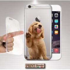 Cover - 'GOLDEN RETRIEVER puppy trasp' CUCCIOLO CARINO CANE TRASPARENTE animali domestici divertente SAMSUNG