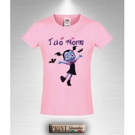 T-shirt slim fit Bambina VAMPIRINA Personalizzata con Tuo Nome