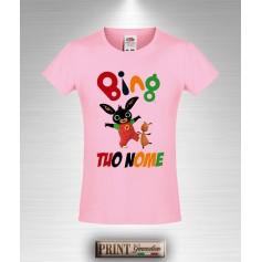 T-shirt slim fit Bambina BING Personalizzata con Tuo Nome