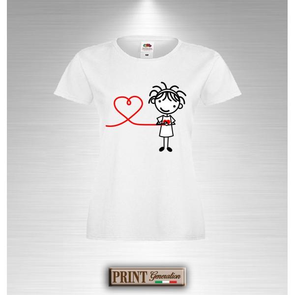 T-Shirt Comunicazione a Distanza Idea regalo - Coppia - San Valentino