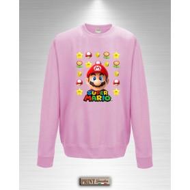 Felpa Girocollo Bambina Super Mario Bros