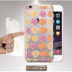 Cover - 'peachy palette flowers trasp' TRASPARENTE fiori rosa carino WIKO