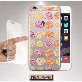 Cover - 'peachy palette flowers trasp' TRASPARENTE fiori rosa carino ASUS ZENFONE